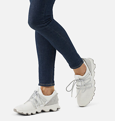 Women's Kinetic™ Lace Sneaker KINETIC™ LACE | 100 | 10, White, 3/4 front