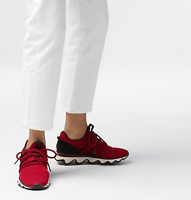 Women's Kinetic™ Lace Sneaker KINETIC™ LACE | 613 | 10, Mountain Red, video