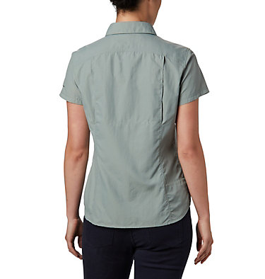 Silver Ridge™ 2.0 kurzärmlige Hemdbluse für Damen Silver Ridge™ 2.0 Short Sleeve | 100 | L, Light Lichen, back