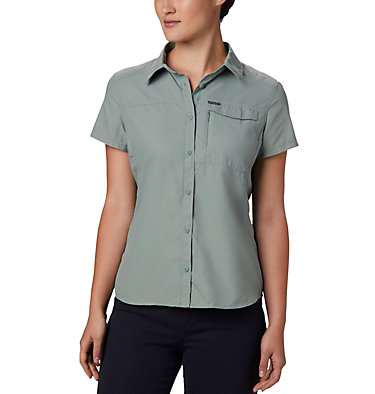Women's Silver Ridge™ 2.0 Short Sleeve Shirt Silver Ridge™ 2.0 Short Sleeve | 100 | L, Light Lichen, front