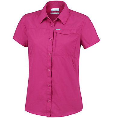 Women's Silver Ridge™ 2.0 Short Sleeve Shirt Silver Ridge™ 2.0 Short Sleeve | 100 | L, Wine Berry, front