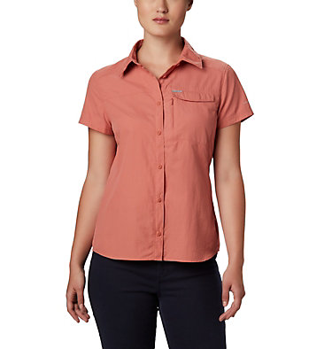 Women's Silver Ridge™ 2.0 Short Sleeve Shirt Silver Ridge™ 2.0 Short Sleeve | 100 | L, Dark Coral, front