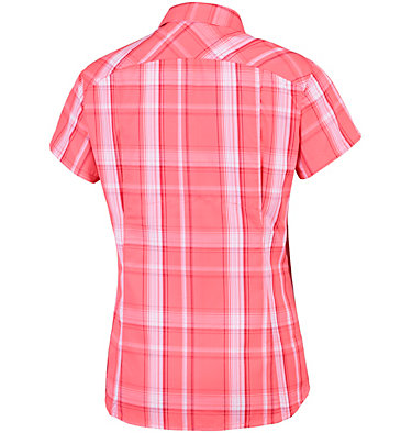 Silver Ridge™ 2.0 kurzärmlige Hemdbluse mit Karomuster für Damen Silver Ridge™ 2.0 Plaid Short  | 692 | XS, Coral Bloom Large Plaid, back