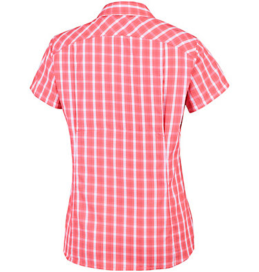 Silver Ridge™ 2.0 kurzärmlige Hemdbluse mit Karomuster für Damen Silver Ridge™ 2.0 Plaid Short  | 692 | XS, Coral Bloom Gingham, back