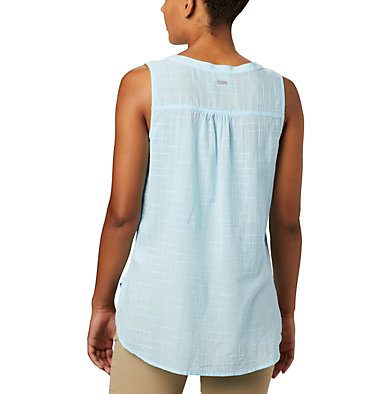 Women's Summer Ease™ Sleeveless Shirt Summer Ease™ Sleeveless Shirt | 466 | L, Spring Blue, back