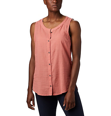 Women's Summer Ease™ Sleeveless Shirt Summer Ease™ Sleeveless Shirt | 466 | L, Dark Coral, front