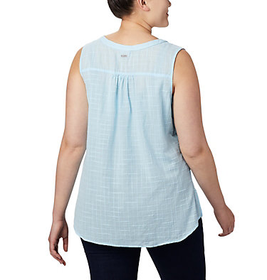 Haut sans manches Summer Ease™ pour femme — Grandes tailles Summer Ease™ Sleeveless Shirt | 639 | 1X, Spring Blue, back