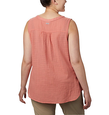 Haut sans manches Summer Ease™ pour femme — Grandes tailles Summer Ease™ Sleeveless Shirt | 639 | 1X, Dark Coral, back