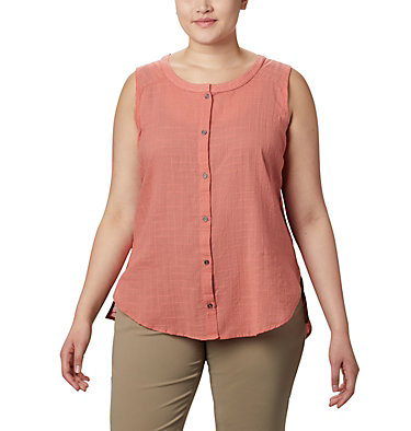 Haut sans manches Summer Ease™ pour femme — Grandes tailles Summer Ease™ Sleeveless Shirt | 639 | 1X, Dark Coral, front