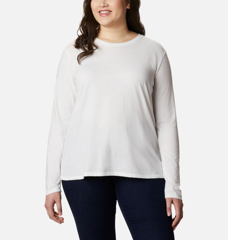 Solar Shield™ Long Sleeve | 100 | 3X Women's Solar Shield™ Long Sleeve Shirt - Plus Size, White, front