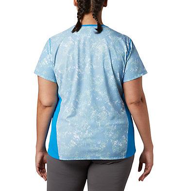 Women's Solar Chill™ 2.0 Short Sleeve Shirt—Plus Size Solar Chill™ 2.0 Short Sleeve | 556 | 1X, Static Blue Print, back