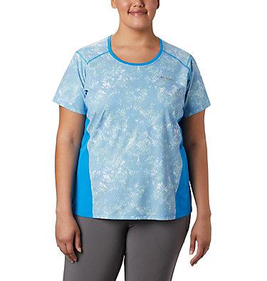 Women's Solar Chill™ 2.0 Short Sleeve Shirt—Plus Size Solar Chill™ 2.0 Short Sleeve | 556 | 1X, Static Blue Print, front