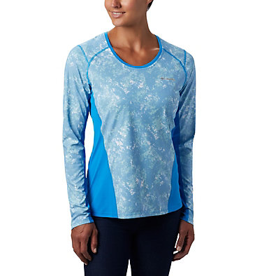 Women's Solar Chill™ 2.0 Long Sleeve Solar Chill™ 2.0 Long Sleeve | 556 | L, Static Blue Print, front