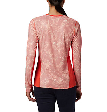 Haut à manches longues Solar Chill™ 2.0 pour femme Solar Chill™ 2.0 Long Sleeve | 556 | L, Bright Poppy Print, back