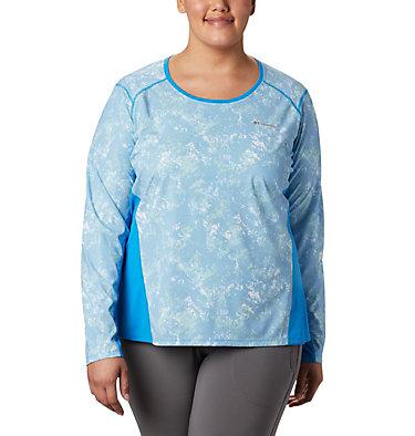 Haut à manches longues Solar Chill™ 2.0 pour femme – Grande taille Solar Chill™ 2.0 Long Sleeve | 556 | 2X, Static Blue Print, front