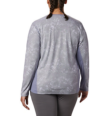 Haut à manches longues Solar Chill™ 2.0 pour femme – Grande taille Solar Chill™ 2.0 Long Sleeve | 556 | 2X, New Moon Print, back