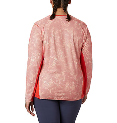 Haut à manches longues Solar Chill™ 2.0 pour femme – Grande taille Solar Chill™ 2.0 Long Sleeve | 556 | 2X, Bright Poppy Print, back