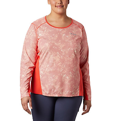 Haut à manches longues Solar Chill™ 2.0 pour femme – Grande taille Solar Chill™ 2.0 Long Sleeve | 556 | 2X, Bright Poppy Print, front