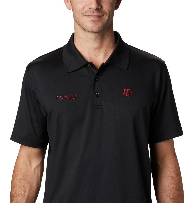 CLG Skiff Cast™ Polo | 099 | XL Men's Collegiate Skiff Cast™ Polo - Texas A&M, TAM - Black, a2
