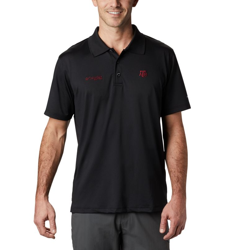 CLG Skiff Cast™ Polo | 099 | XL Men's Collegiate Skiff Cast™ Polo - Texas A&M, TAM - Black, front