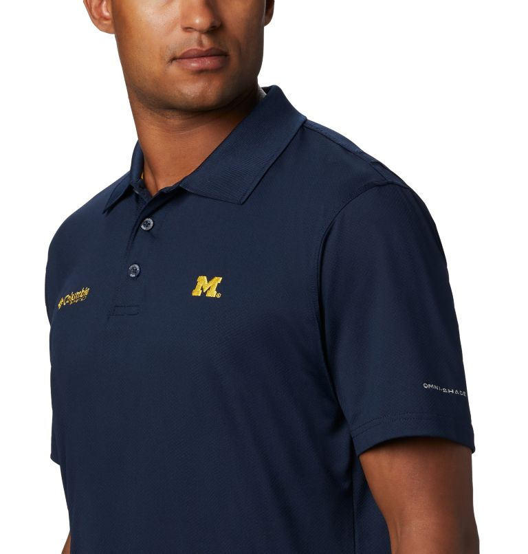 CLG Skiff Cast™ Polo | 426 | L Men's Collegiate Skiff Cast™ Polo - Michigan, UM - Collegiate Navy, a1