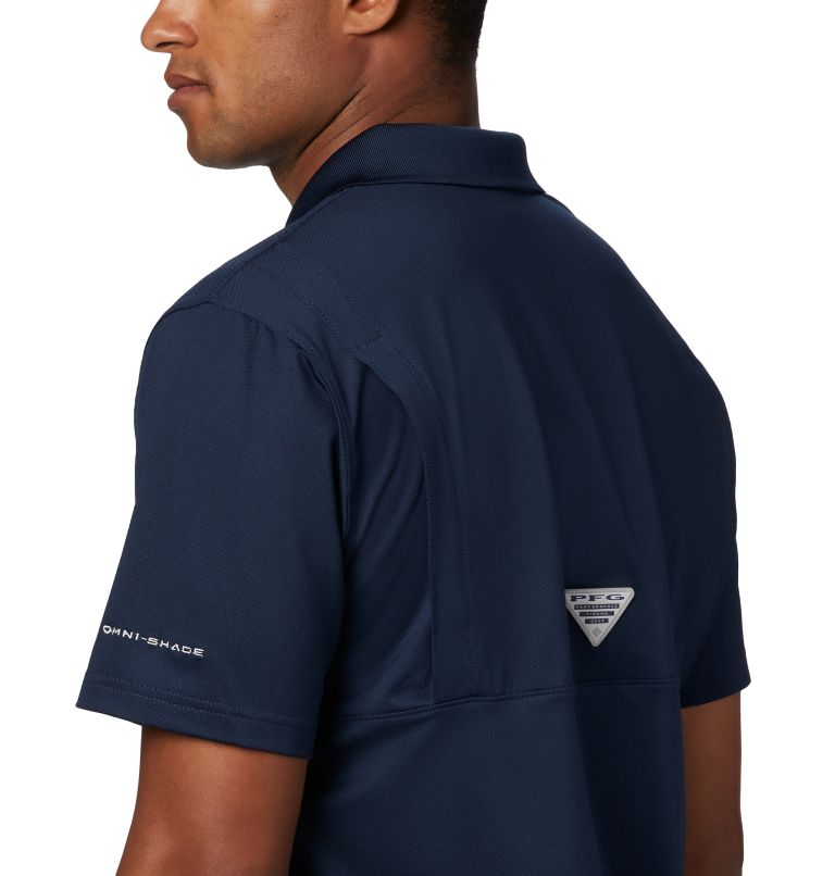 CLG Skiff Cast™ Polo | 426 | XL Men's Collegiate Skiff Cast™ Polo - Michigan, UM - Collegiate Navy, a2
