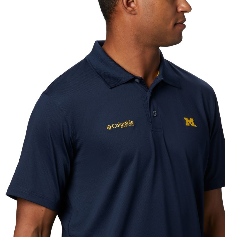 CLG Skiff Cast™ Polo | 426 | XL Men's Collegiate Skiff Cast™ Polo - Michigan, UM - Collegiate Navy, a3