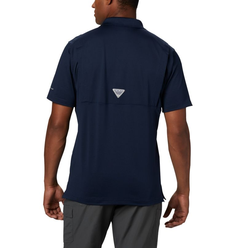 CLG Skiff Cast™ Polo | 426 | XL Men's Collegiate Skiff Cast™ Polo - Michigan, UM - Collegiate Navy, back