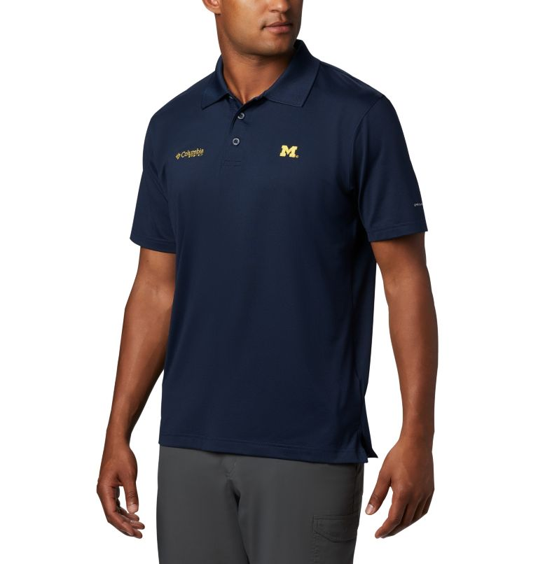 CLG Skiff Cast™ Polo | 426 | XL Men's Collegiate Skiff Cast™ Polo - Michigan, UM - Collegiate Navy, front