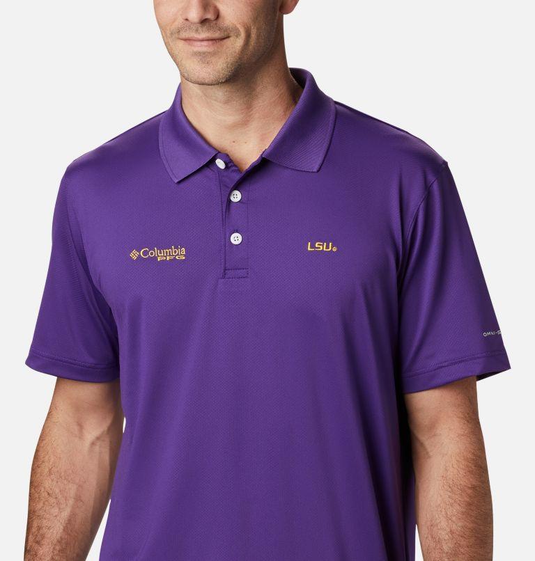 CLG Skiff Cast™ Polo | 517 | XL Men's Collegiate Skiff Cast™ Polo - LSU, LSU - Vivid Purple, a2