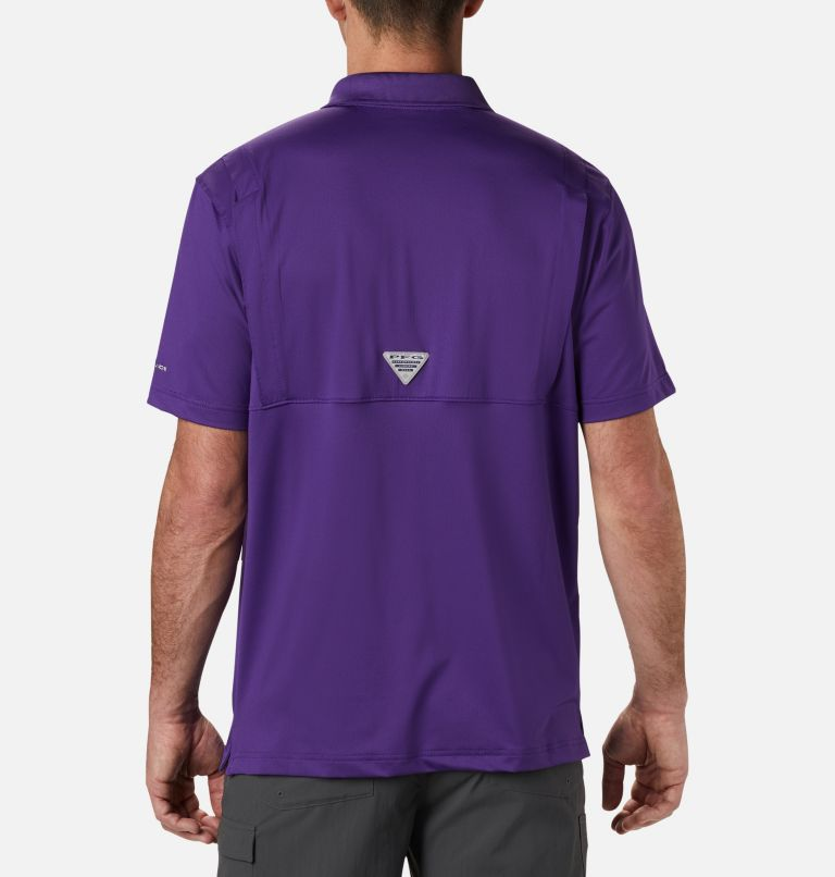 CLG Skiff Cast™ Polo | 517 | XL Men's Collegiate Skiff Cast™ Polo - LSU, LSU - Vivid Purple, back