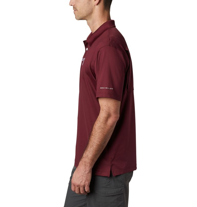 CLG Skiff Cast™ Polo | 627 | L Men's Collegiate Skiff Cast™ Polo - Texas A&M, TAM - Deep Maroon, a1