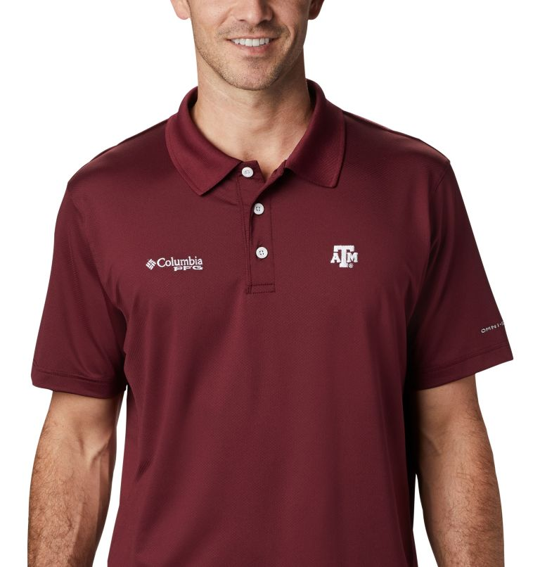 CLG Skiff Cast™ Polo | 627 | L Men's Collegiate Skiff Cast™ Polo - Texas A&M, TAM - Deep Maroon, a2