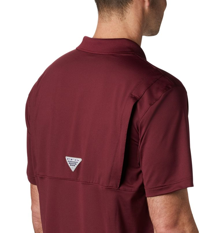 CLG Skiff Cast™ Polo | 627 | L Men's Collegiate Skiff Cast™ Polo - Texas A&M, TAM - Deep Maroon, a3