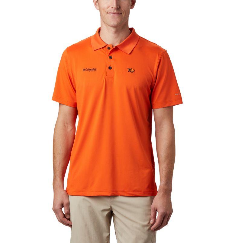 CLG Skiff Cast™ Polo | 820 | XL Men's Collegiate Skiff Cast™ Polo - Oregon State, OSU - Tangy Orange, front