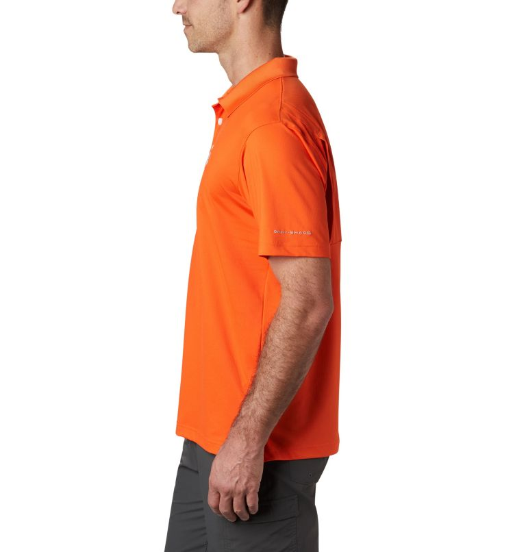 CLG Skiff Cast™ Polo | 835 | XL Men's Collegiate Skiff Cast™ Polo - Clemson, CLE - Spark Orange, a1
