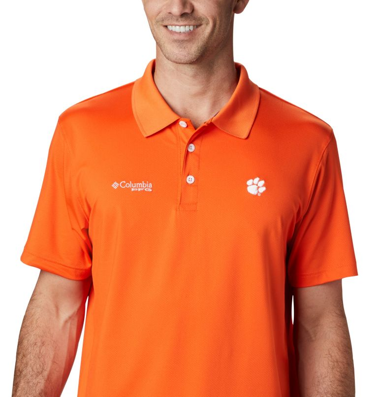 CLG Skiff Cast™ Polo | 835 | XL Men's Collegiate Skiff Cast™ Polo - Clemson, CLE - Spark Orange, a2