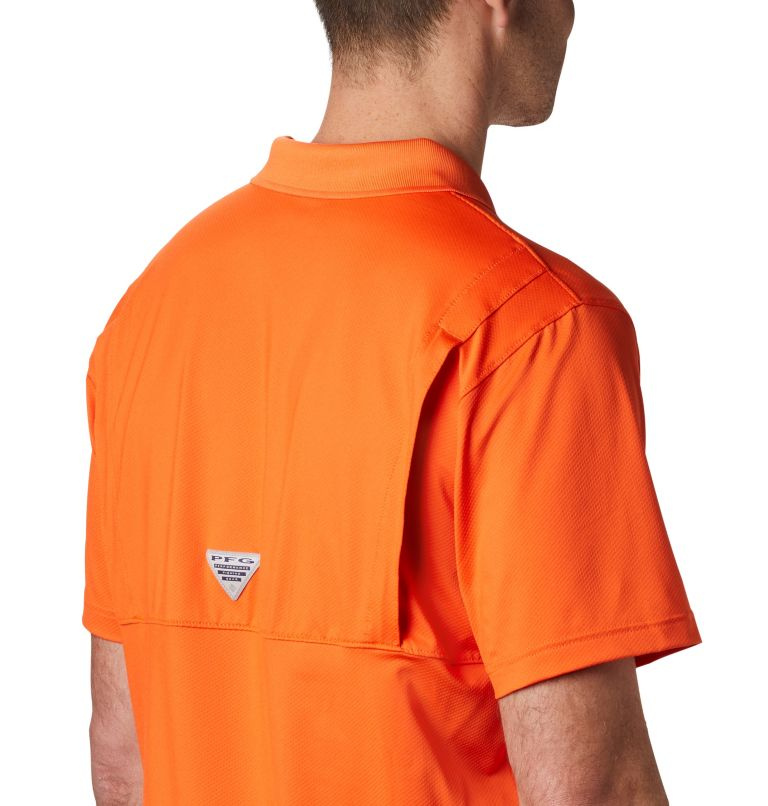 CLG Skiff Cast™ Polo | 835 | XL Men's Collegiate Skiff Cast™ Polo - Clemson, CLE - Spark Orange, a3