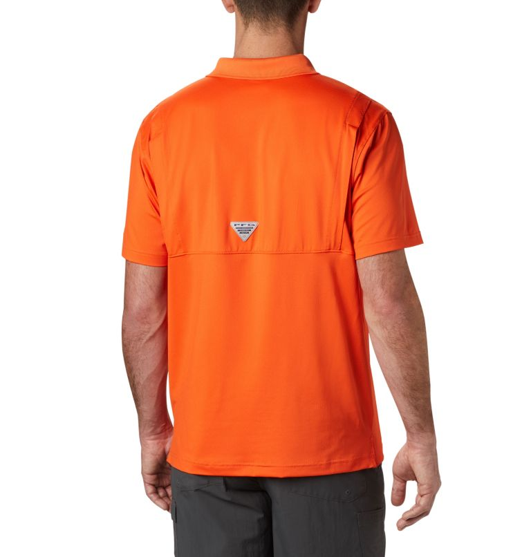 CLG Skiff Cast™ Polo | 835 | XL Men's Collegiate Skiff Cast™ Polo - Clemson, CLE - Spark Orange, back