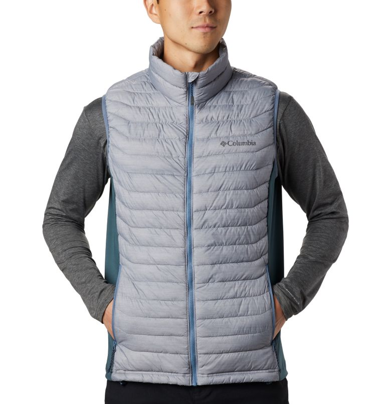 Powder Pass™ Vest | 039 | M Men's Powder Pass™ Vest, Columbia Grey Heather, Mountain, a1