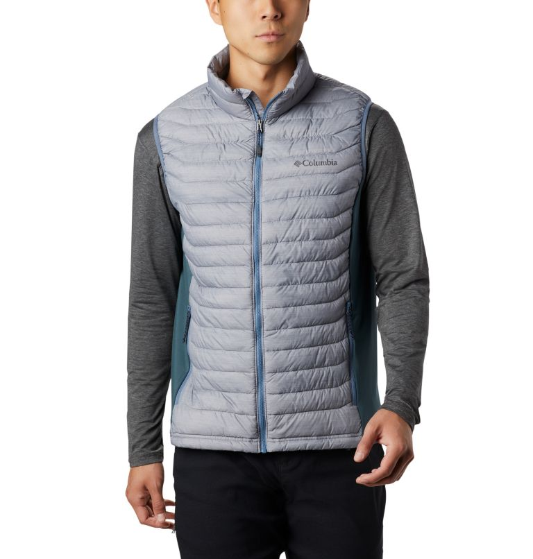 Powder Pass™ Vest | 039 | M Men's Powder Pass™ Vest, Columbia Grey Heather, Mountain, front