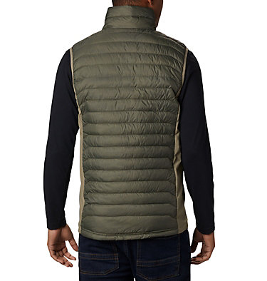 Men's Powder Pass™ Vest—Big Powder Pass™ Vest   039   1X, New Olive Heather, Sage, back