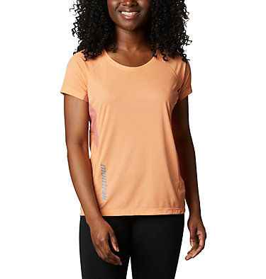 Women's Titan Ultra™ II Short Sleeve Shirt Titan Ultra™ II Short Sleeve | 101 | XL, Bright Nectar, Dark Coral, front