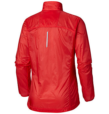 Women's F.K.T.™ Wind Jacket F.K.T.™ Wind Jacket | 646 | L, Cherrybomb, Red Coral, back