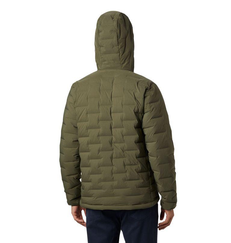 Super/DS™ Stretchdown Hooded Jacket | 304 | S Men's Super/DS™ Stretchdown Hooded Jacket, Dark Army, back
