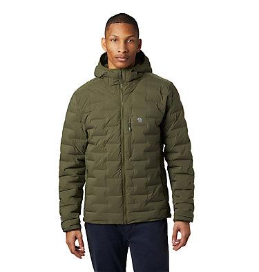 Men's Super/DS™ Stretchdown Hooded Jacket Super/DS™ Stretchdown Hooded Jacket | 629 | L, Dark Army, front