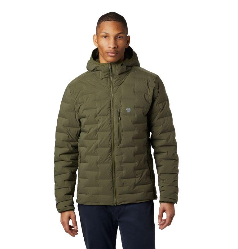 Super/DS™ Stretchdown Hooded Jacket | 304 | S Men's Super/DS™ Stretchdown Hooded Jacket, Dark Army, front