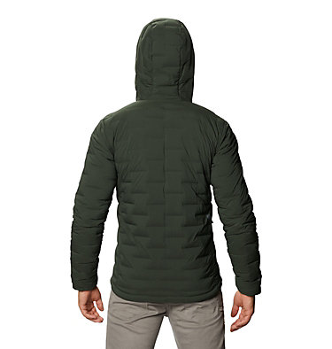 Men's Super/DS™ Stretchdown Hooded Jacket Super/DS™ Stretchdown Hooded Jacket | 629 | L, Black Sage, back