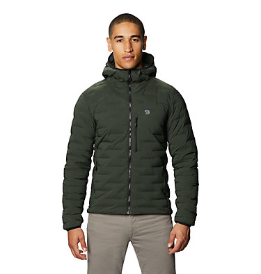 Men's Super/DS™ Stretchdown Hooded Jacket Super/DS™ Stretchdown Hooded Jacket | 629 | L, Black Sage, front