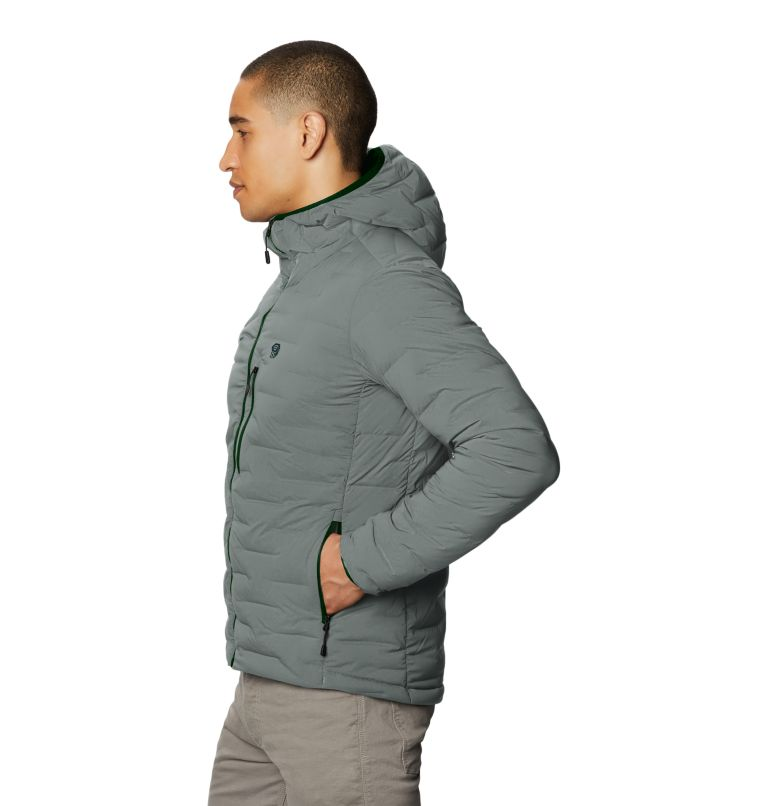Super/DS™ Stretchdown Hooded Jacket | 339 | L Men's Super/DS™ Stretchdown Hooded Jacket, Wet Stone, a1